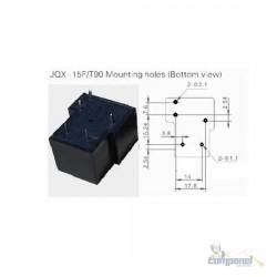 Relê De Alta Potência 24v 30a Jqx-15f - 5 Terminais